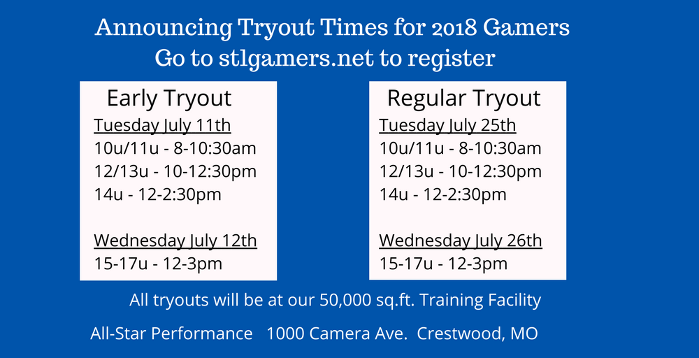 Gamer Tryouts